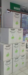 bubble wrap in dispenser boxes