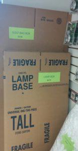 golf bag box lamp box