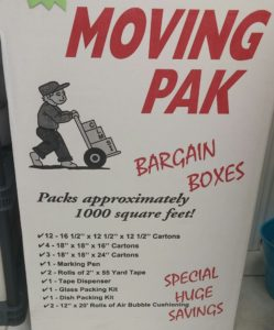 moving pack
